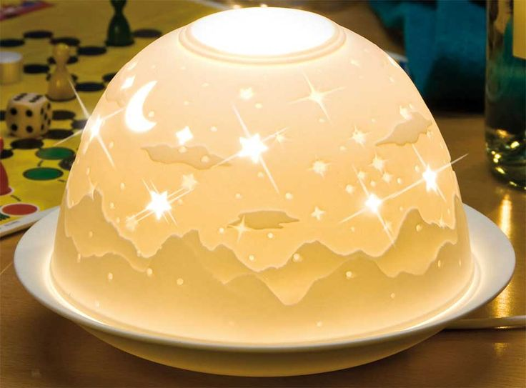 Popular Dome Light Maxi Porzellan Windlicht ueSternenhimmel ud Tr ume s u Eine ideale Beleuchtung