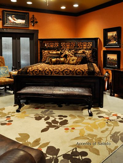 A bench at the foot of the bed.. Accents of Salado has a bench ideal for your bedroom style.