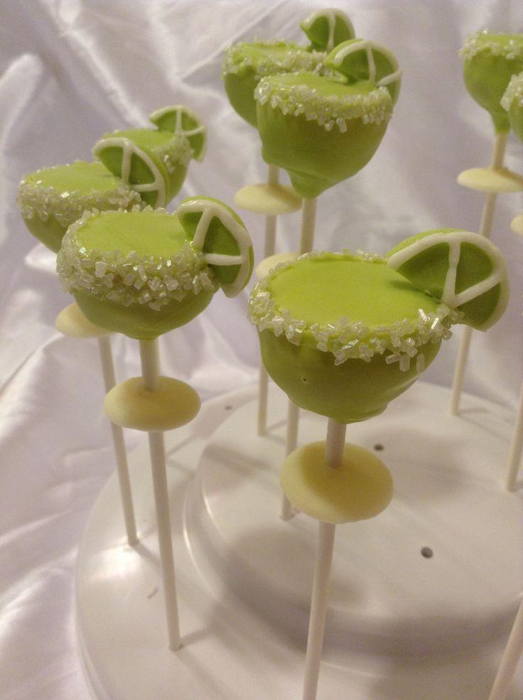 Margarita cake pops