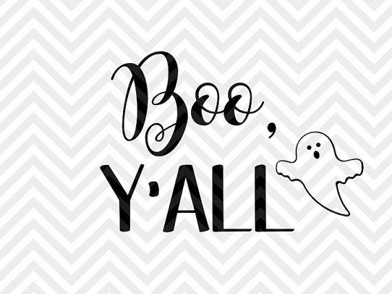 Boo Y'all halloween SVG file - Cut File - Cricut projects - cricut ideas - cricut explore - silhouette cameo projects - Silhouette projects  by KristinAmandaDesigns