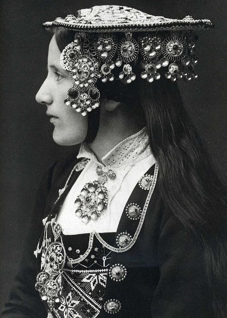 A Norwegian Bride wears a silver wedding crown by Per Braaten 1935 | Flickr - Photo Sharing!