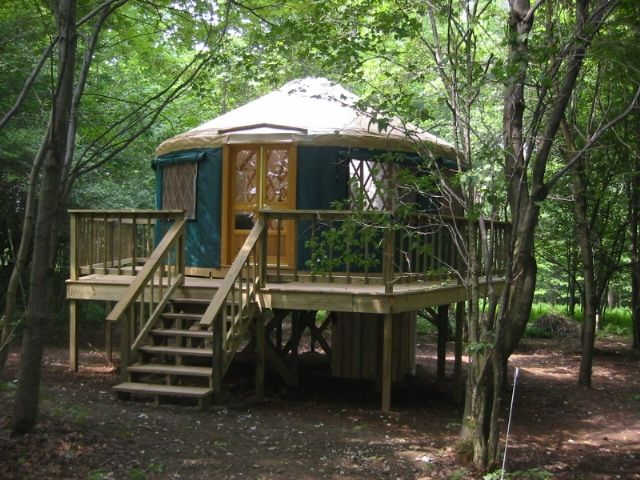 picture inside of yurts homes | Yurt Lodging | New York Tree House Yurts | Eco Travel