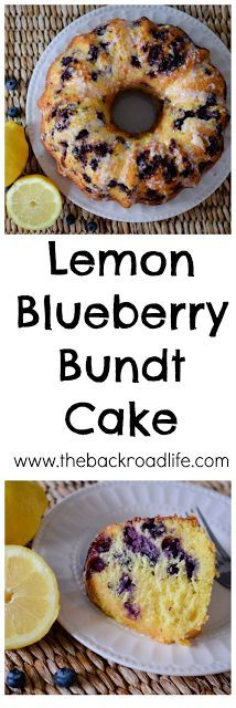 The flavors of lemon and blueberry come together deliciously in this easy bundt cake recipe. Moist, sweet, and zesty.