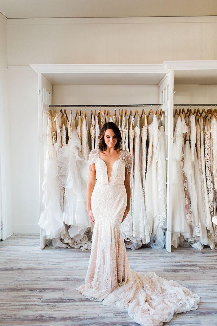 Glamorous Plunging Neckline Wedding Dress    #wedding #weddingideas #weddings #nautical #neutral #bohemianwedding #bohobride #weddingdress #bride #bridalstyle #weddingdresses #weddingfashion