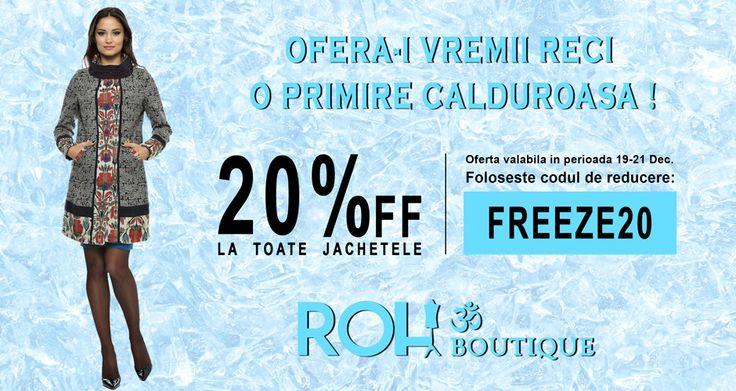 20% Reducere la Toate Jachetele !!  Nu Rata, Comanda acum !!! http://rohboutique.ro/jachete/