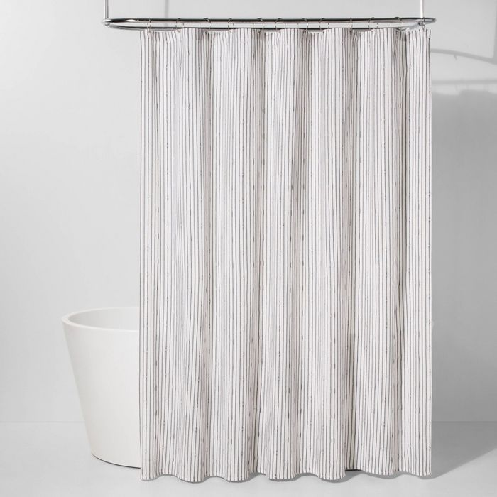 Textured Stripe Shower Curtain Black White Project 62 Target