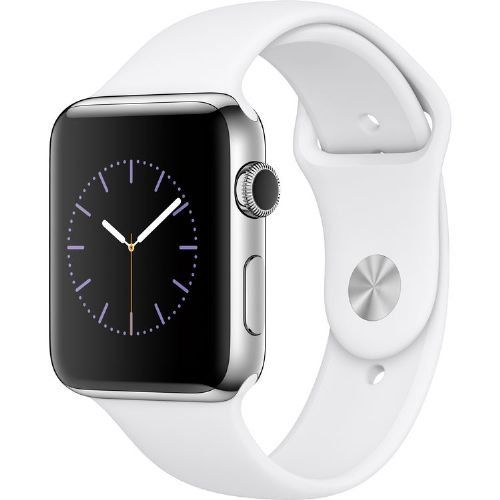 Apple Watch Gen 2 Series 2 42mm Stainless Steel - White Sport Band Stay connected in style with the 42mm Apple Watch Series 2, which comes with a Stainless Steel Read more http://themarketplacespot.com/apple-watch-gen-2-series-2-42mm-stainless-steel-white-sport-band/
