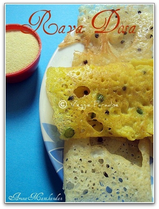 This is an easy and tasty recipe to prepare. As the name suggests this can be prepared in a jiffy asfermentationis not needed. It is a combination of rava , rice flour and maida.
