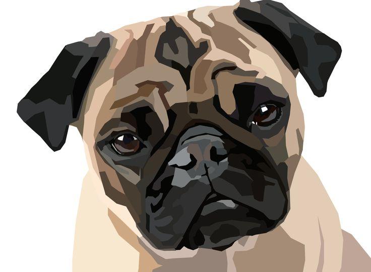 My Art Work... Pug Dog