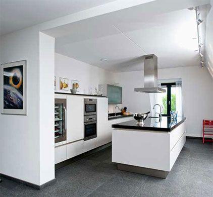 17 beste idee n over leisteen tegel vloeren op pinterest leistenen vloer keuken leistenen - Open keuken idee ...