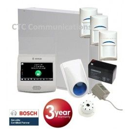 "Bosch Solution 3000 Alarm System with 3 x Gen 2 Quad Detectors+ 4"" Touch Screen…"