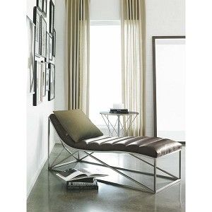 Modern Metro Leather Chaise