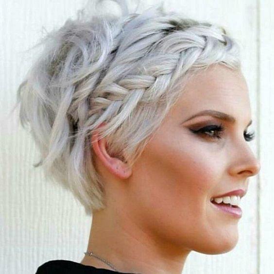 20 beautiful light hairstyles on short hair – #Hairstyle #Hair #hair design #horseF