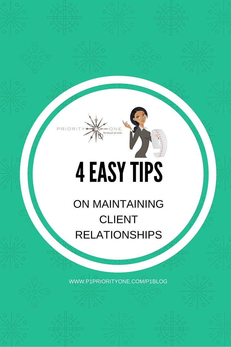 4 Easy tips on maintaining client relationships...Check out this blog post on how you can up your client game and make lasting connections that equal more profit.