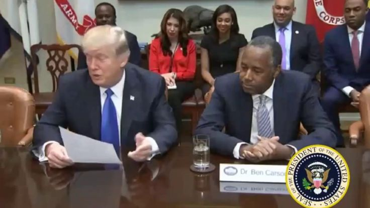 "FULL: President Trump Meeting Honoring Black History Month at the White House 02-1-2017 | Off Topics  President Donald Trump met Wednesday with several African-American leaders for a listening session to kick off Black History Month. The session was attended by Ben Carson Trump's nominee to head the Department of Housing and Urban Development his sole black Cabinet pick.  ""Well this is Black History Month so this is our little breakfast our little get-together"" Trump said seated beside…"