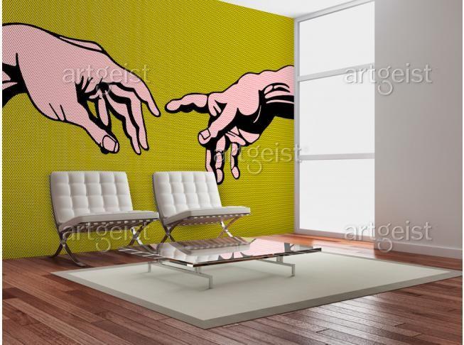 Pop art en fotomural hace que el diseño interior es colorido e interesante #fotomural #fotomurales #wallpapers #popart #colores