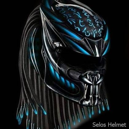 TOP International predator helmet custom - DOT approved Size S-L-M-XL