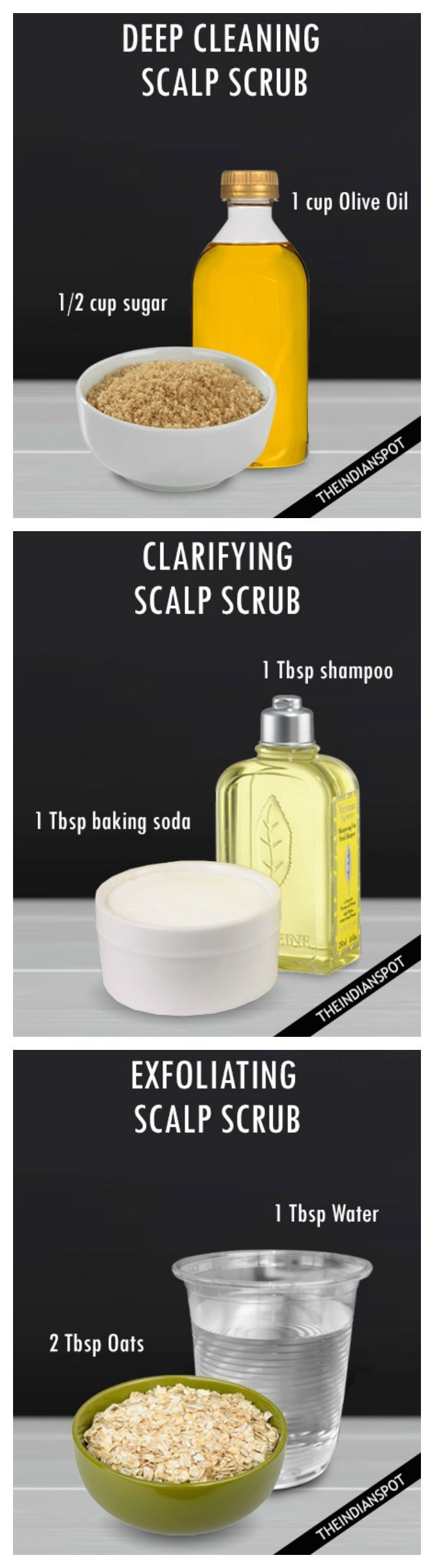 Deep Cleansing with 3 DIY natural Scalp scrubs