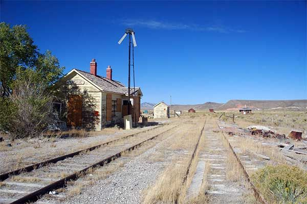 Abandoned Currie Nevada Depot Nevada Northern Railway