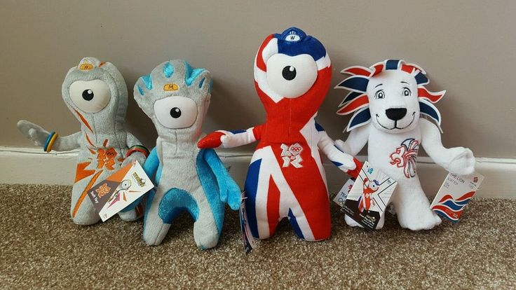 OFFICIAL LONDON 2012 OLYMPICS MASCOTS WENLOCK MANDEVILLE LION Soft Toy(Rio 2016)  | eBay