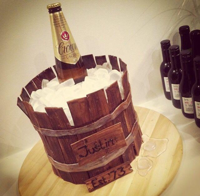 Beer barrel cake.