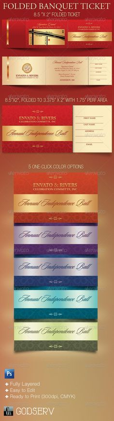 25+ ide Ticket template unik di Pinterest - banquet ticket template