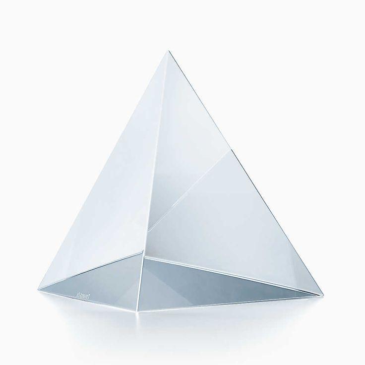"""Pyramid award in optic glass, 5.2"""" high."""
