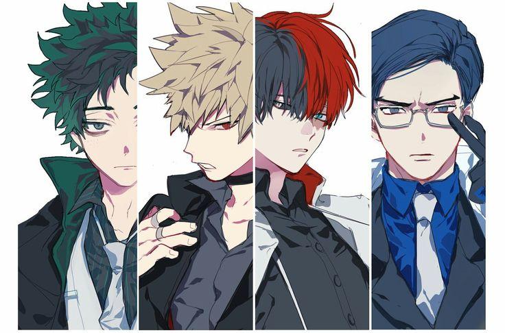 Boku no Hero Academia    #AU [ Midoriya Izuku, Katsuki Bakugou, Todoroki Shouto, Tenya Iida. ]