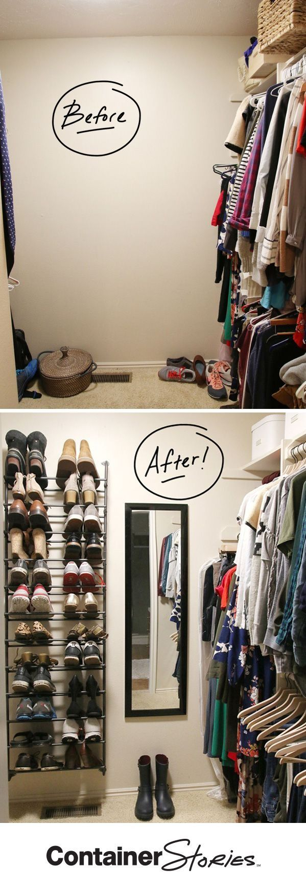 See how Chris and Julia, the power duo behind the successful home decor, design and DIY pojects blog, Chris Loves Julia, refreshed their master closet for our #turnyourclosetaround series. You won't believe how much better their closet looks!