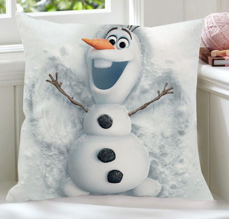 Disney Frozen olaf snowman snowing family plush pillow cushion new 1pcs new