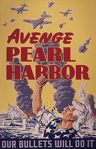 Propaganda del ejército tras el ataque de Pearl Harbor.