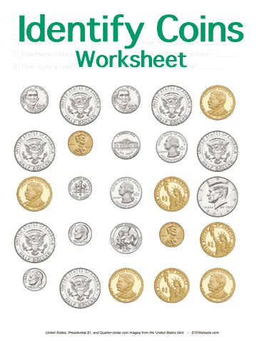 customizable and printable identifying coins worksheet math stem resources pinterest math. Black Bedroom Furniture Sets. Home Design Ideas
