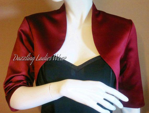 Satin Bolero / Shrug / Jacket Fully Lined  by dazzlingladieswear