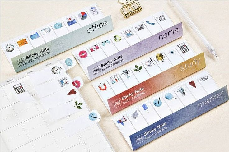 Functional Sticky Notes, Reminder Notes, Memo Pad Stickers, Planner Sticky Notes by GinkoSupplies on Etsy