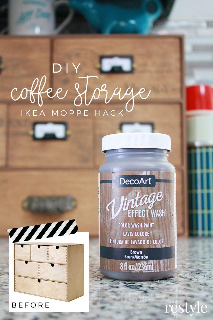 DIY Coffee Storage Ikea Moppe Hack