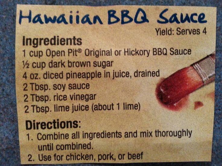 Hawaiian BBQ sauce