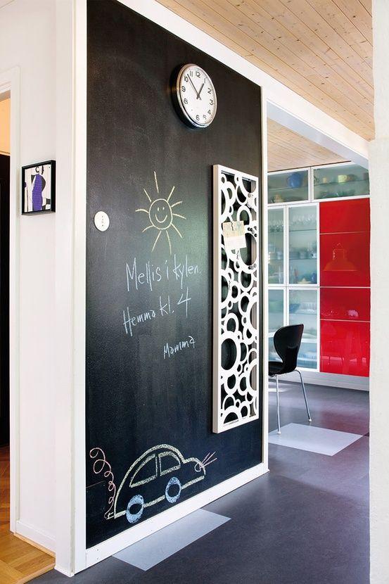 Pintura de pizarra para todas las habitaciones de la casa
