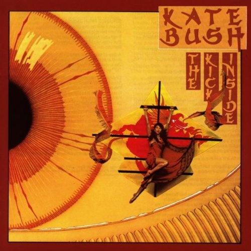 First album.  I'm not sure where the chinese theme comes in but the pictures reference songs on the album. Kite, Man with the Child in his Eyes, Moving.  The words are frames by the kite frame lining up. I love this cover, its really striking.
