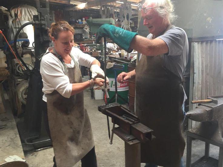 Blacksmithing at the Talisman Gallery, Hartley Historic Village