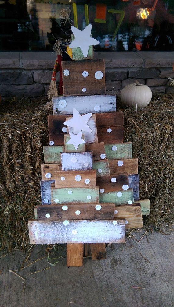 Reclaimed pallet wood Christmas Trees by AllThingsPalletsTJO