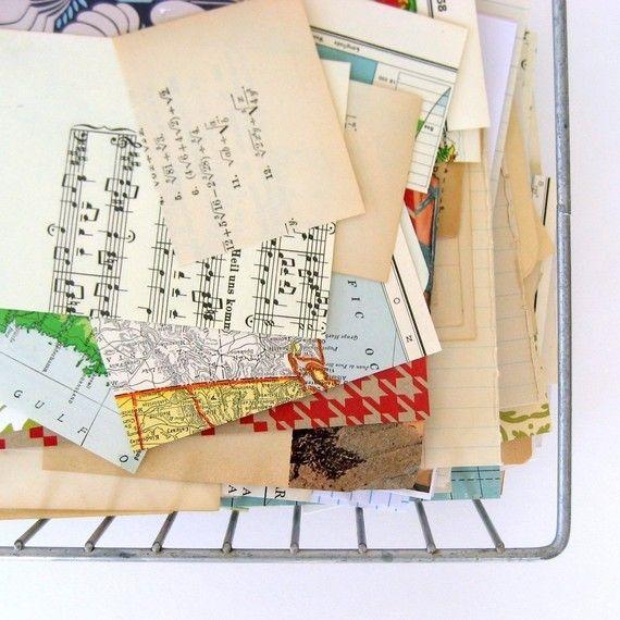 LAST CHANCE: Scrap Paper Pack  New Vintage by saturdayAMvintage