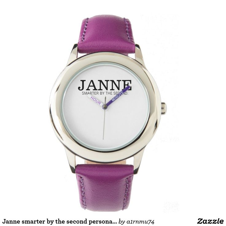 Janne smarter by the second personalized watch