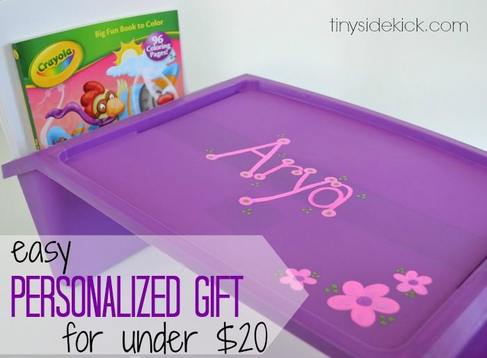 Easy Personalized Birthday Gift for Kids