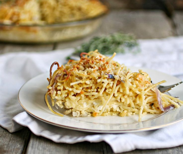 Hungry Couple: French Onion Spaghetti Pie