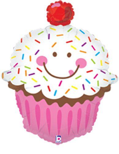 Sprinkled Cupcake Wholesale Balloon Shape