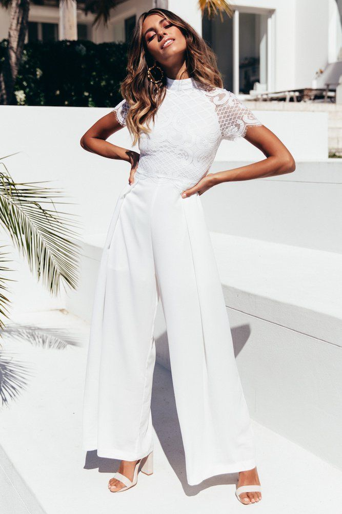 Better Than Before Jumpsuit White White Party Outfit Jumpsuit Elegant White Jumpsuit Outfit