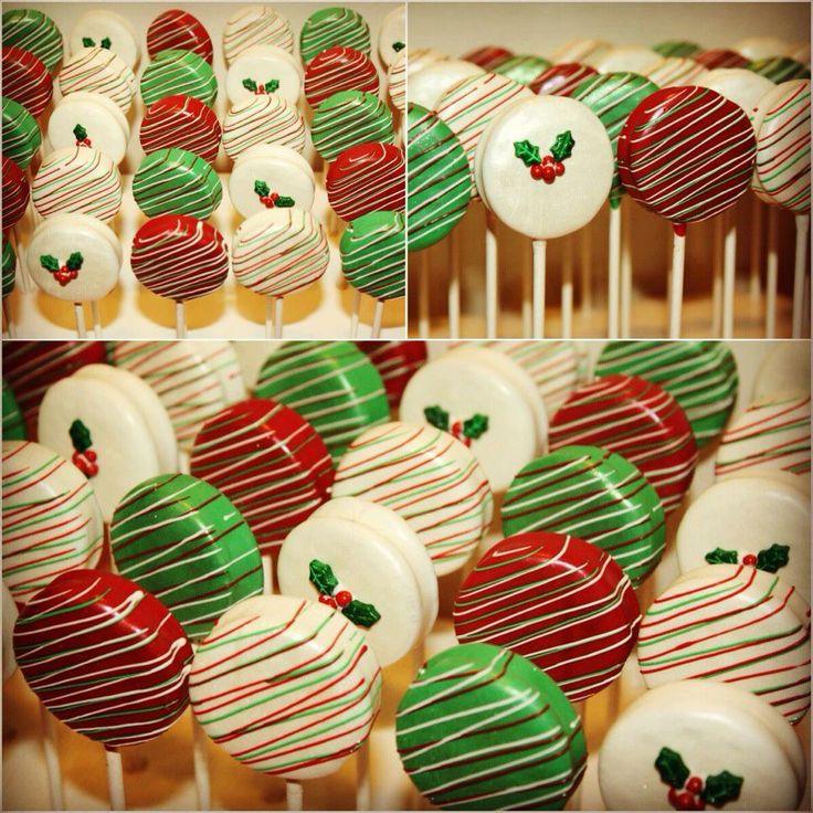 Christmas #Chocolate Covered Oreos Pops with Hebert Chocolate. - hebertcandies.com