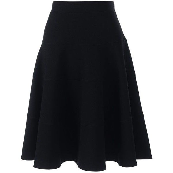 Lands' End Women's Petite Ponte A-line Skirt (3,010 PHP) ❤ liked on Polyvore featuring skirts, black, ponte a line skirt, lands end skirts, panel skirt, petite skirts and a-line skirt