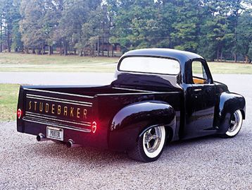 We take a closer look at this black 1959 Studebaker truck - Classic Trucks Magazine