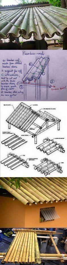 #bamboo roof #竹 #屋根 #exteriors #建築 (Via:kalistalimanda.tk/welcome/index/2008992) ほぉ!これはナイスなアイデア! 竹で屋根を作るとは...結束線が必要ならステンレス結束線をどうぞ。